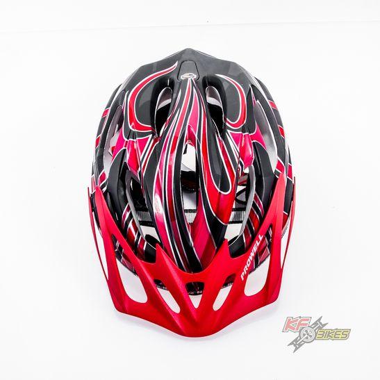capacete-para-ciclista-f-6000-preto-e-vermelho-fosco