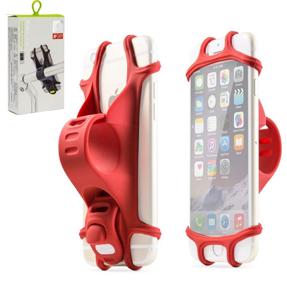 Suporte para Celular no Guidão Bike Tie Design Award vermelho - kfbikes 5a352215806