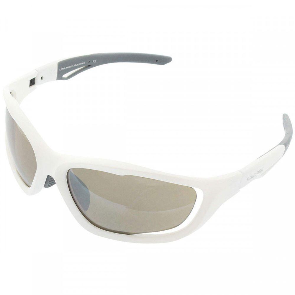 141e454b8c09b Óculos Shimano CE-S60X-PL branco com lente escura Polarizada - kfbikes