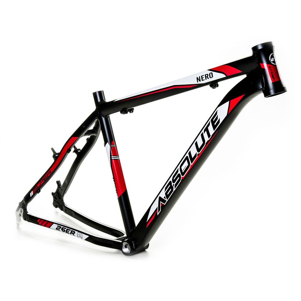 cfc427345 Quadro para Bicicleta 26 Absolute Nero 17 pto verm - kfbikes
