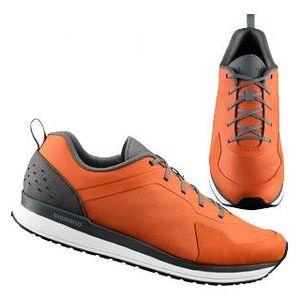 sapatilha-shimano-ct-5-urbana-casual-laranja-click-r-kfbikes