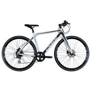 Uma-bicicleta-eletrica-Oggi-Lite-Tour-e-500-Branca-com-Preta-Shimano