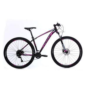 Bicicleta-da-marca-Oggi-modelo-7.0-na-cor-preta-e-rosa