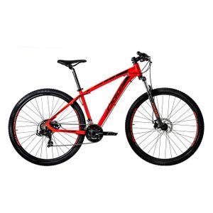 bicicleta-marca-Oggi-modelo-Hacker-Sport-21-com-21-marchas-e-suspensao-na-cor-vermelha-e-preta