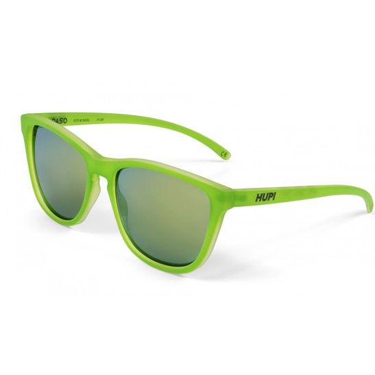 oculos-da-marca-hupi-sendo-visto-de-frente-com-lentes-verdes-e-espelhadas