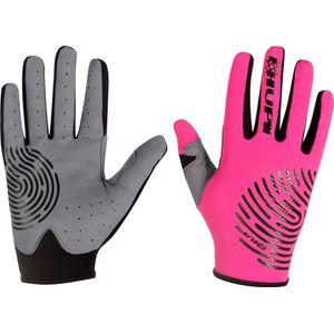 luva-feminina-tamanho-M-rosa-pink-com-preto-e-cinza-modelo-biometria-bonita