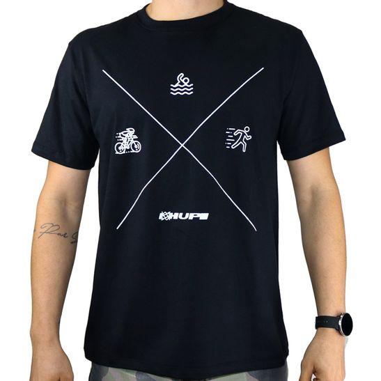 camiseta-causal-preta-marca-hupi-com-estampa-modelo-triathlon-