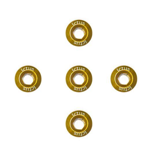 kit-com-5-parafusos-em-aluminio-da-marca-ictus-para-coroa-de-pedivela-freeride-mtb-speed-gravel-na-cor-dourada