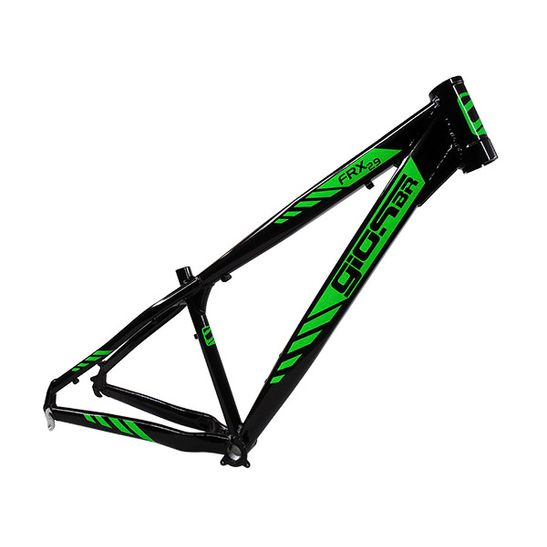 quadro-para-bike-aro-29-free-ride-ou-montain-bike-marca-gios-modelo-FRX-preto-brilhante-e-verde-neon