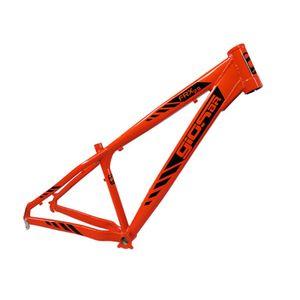 Quadro-para-bicicleta-mtb-e-freeride-aro-29-na-cor-laranja-perolizado-com-adesivos-pretos-da-marca-gios-br-modelo-FRX