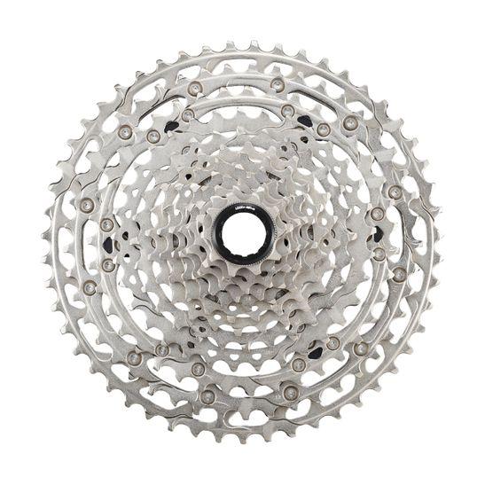 cassete-para-bicicleta-com-12-velocidades-marca-shimano-modelo-Deore-M6100-com-10-e-51-dentes-no-sistema-micro-spline-na-cor-prata