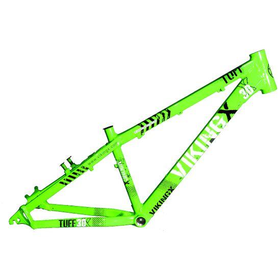quadro-aro-26-dirt-jump-viking-tuff-x-30-em-aluminio-verde-neon-para-freio-a-disco-post-mount-e-v-brake-verde