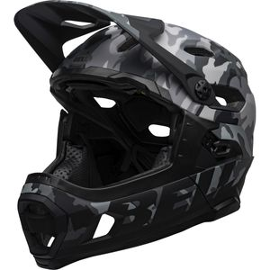 capacete-full-downhill-bell-super-dh-mps-floatfit-float-lock-top-camo-camuflado-cinza-preto