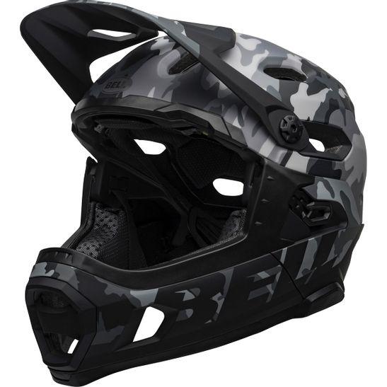 capacete-full-downhill-bell-super-dh-mps-floatfit-float-lock-top-camo-camuflado-cinza-preto
