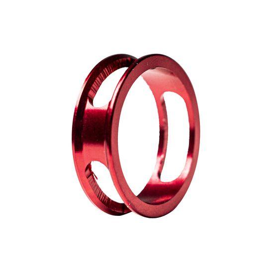 espacador-movimento-de-direcao-over-aheadset-absolute-vazado-35g-vermelho-anodizado-aluminio-leve-bonito-forte