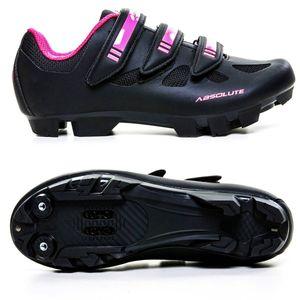 sapatilha-feminina-para-mountain-bike-mtb-absolute-mia-preto-com-rosa-neon-com-velcros-