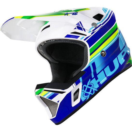 capacete-para-downhill-hupi-dh3-branco-com-azul-e-verde-modelo-2020-full-face-modelo-2020