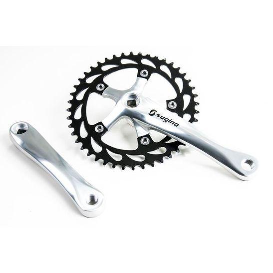 pedivela-para-bicicleta-single-ou-fixa-sugino-polido-com-preto-coroa-com-44-dentes-eixo-ponta-quadrada
