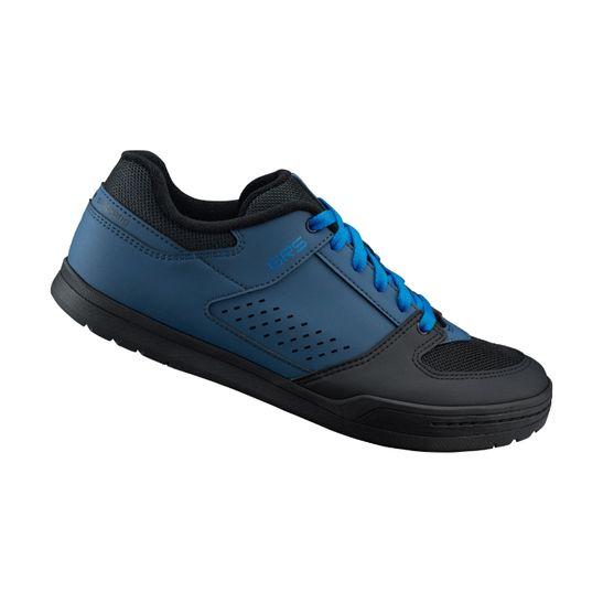tenis-preto-com-azul-shimano-modelo-gr-500-e-bike-urbano-flat-freeride-dh