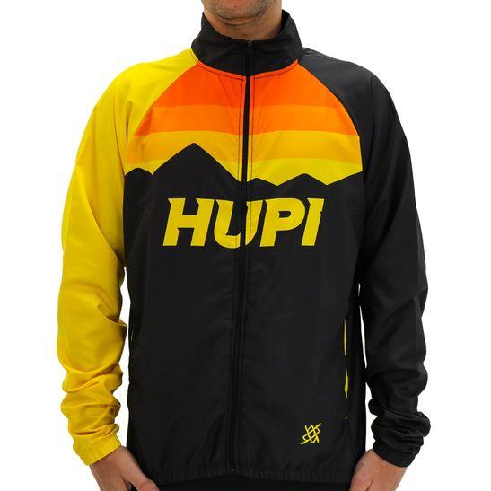 jaqueta-corta-vento-hupi-preto-com-amarelo-e-laranja-com-bolsos-para-ciclismo-com-ziper-de-alta-qualidade