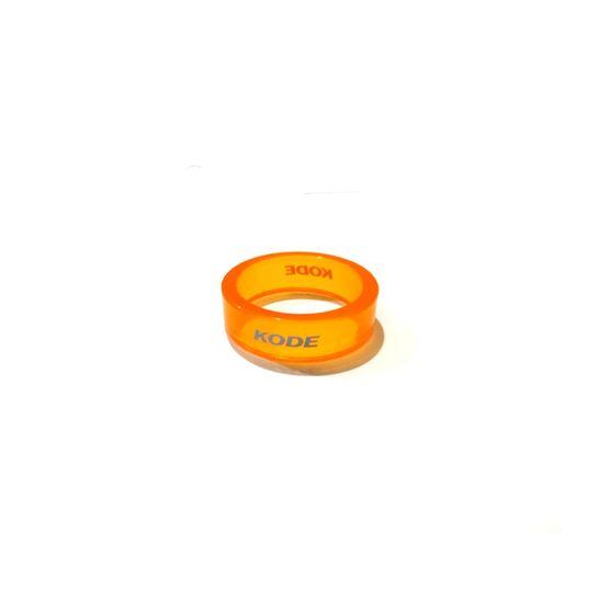 anel-para-caixa-de-direcao-espacador-marca-kode-laranja-e-transparente-em-acrilico-com-10mm