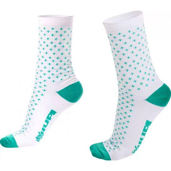 meia-feminina-e-masculina-de-ciclismo-e-corrida-hupi-modelo-max-branco-com-verde