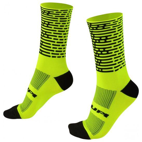 meia-para-ciclismo-estilosa-hupi-modelo-biometria-amarelo-com-preto-confortavel