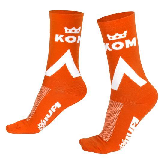 meia-para-ciclismo-de-estrada-e-mountain-bike-hupi-kom-king-of-mountain-strava-laranja-hupi-br-