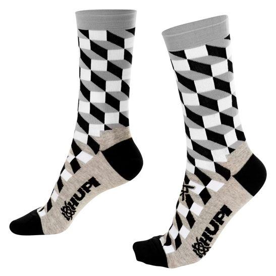 meida-de-qualidade-marca-hupi-modelo-3d-cinza-com-preto-para-ciclismo-e-corrida