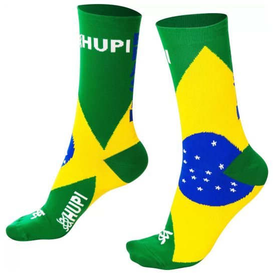 meia-confortavel-marca-hupi-modelo-bandeira-do-brasil-verde-amarelo-e-azul-de-alta-qualidade