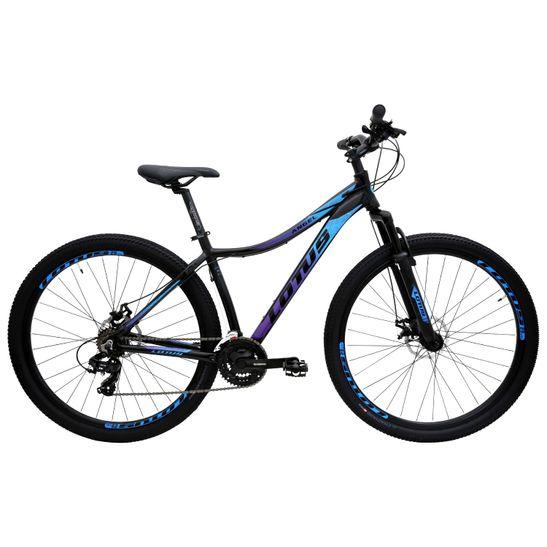 bicicleta-aro-29-com-conjunto-de-transmissao-completo-shimano-marca-lotus-na-cor-preta-com-azul-e-roxo-de-qualidade