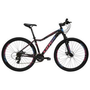mtb-bicicleta-aro-29-lotus-modelo-angel-com-grupo-shimano-e-suspensao-freio-a-disco-preta-com-rosa-e-azul