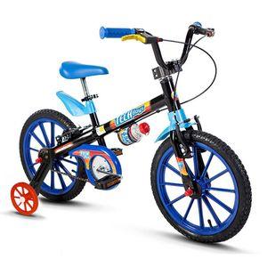bicicleta-infantil-aro-16-tech-boys-nathor-de-alta-qualidade-em-aco-com-rodinhas-preta-e-azul-com-garrafinha