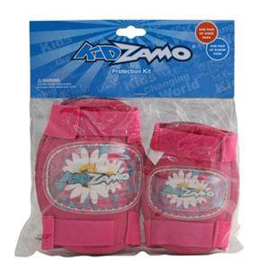 kit-de-protecao-feminina-infantil-com-joelheira-e-cotoveleira-rosa-para-criancas-a-partir-de-3-anos-marca-kidzamo-flores
