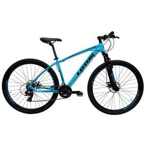 bicicleta-mountain-bike-aro-29-lotus-conjunto-shimano-freio-a-disco-com-suspensao-azul-com-preto-21-marchas-pneu-misto