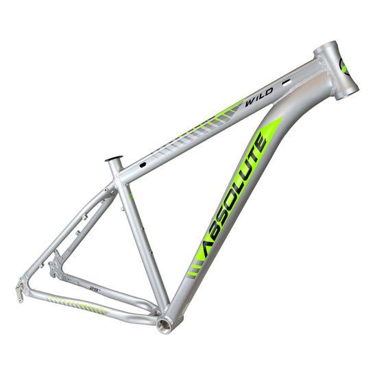 quadro-para-bicicleta-aro-29-absolute-modelo-wild-cinza-com-verde-com-cabeamento-interno-mtb-mountain-bike-semi-integrado-em-aluminio