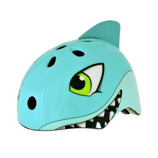 capacete-infantil-marca-kidzamo-modelo-tubarao-3d-verde-com-preto-de-alta-qualidade-com-regulagem