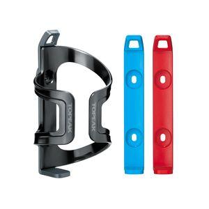 suporte-de-caramanhola-topeak-dualside-cage-ex-reversivel-com-fundo-cinza-azul-e-vermelho-de-alta-qualidade