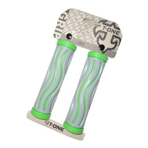 manopla-de-qualidade-t-one-ondulada-cinza-com-verde-emborrachada-de-qualidade-com-tampas