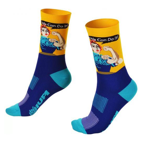 meia-hupi-feminina-la-feme-cano-medio-we-can-do-it-azul-com-amarelo-de-qualidade-para-ciclismo-mtb-speed