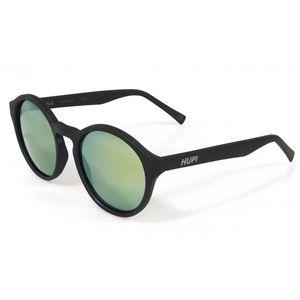 oculos-casual-com-lentes-redondas-marca-hupi-modelo-kona-preto-fosco-lente-verde-espelhada-uv-400