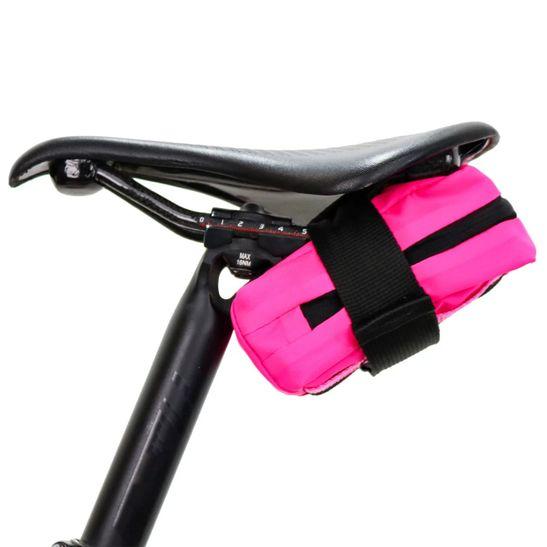 bolsa-de-selim-para-canote-marca-hupi-modelo-troia-simples-pequena-feminina-rosa-com-preto-feito-no-brasil