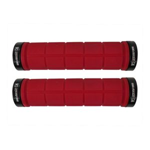 manopla-para-guida-de-mountain-bike-mtb-vermelho-com-preto-gios-modelo-gi-155-com-duas-travas-em-aluminio