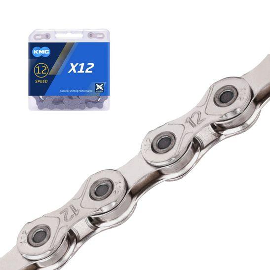 corrente-kmc-para-12-velocidades-modelo-x12-com-126-elos-de-alta-qualidade-prata-com-power-link-para-sram-shimano-e-campagnolo-de-12v