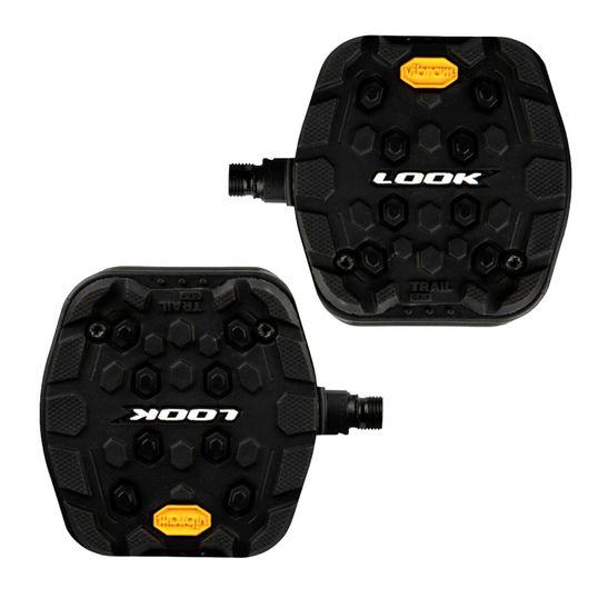 pedal-look-made-in-france-plataforma-modelo-trail-grip-com-borracha-vibram-largo-active-grip-preto-com-refletivo-rolamento-selado-eixo-em-cromoly
