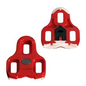 taco-para-pedal-clip-speed-road-padrao-look-keo-cleat-vermelho-com-branco-com-flutuacao-de-9-graus