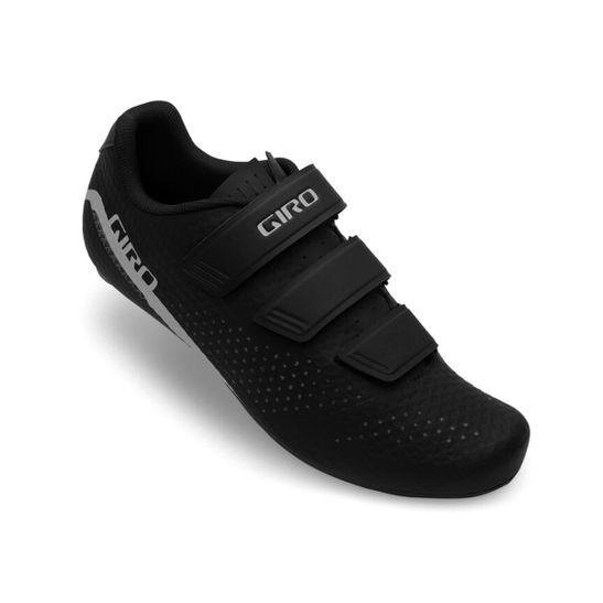 sapatiha-giro-speed-stylus-com-3-velcros-preto-com-branco-leve-nylon-fibra-de-vidro-de-alta-qualidade-resistente-road-estrada