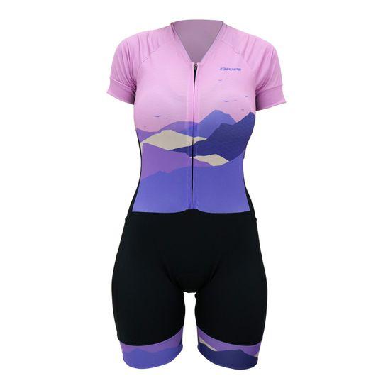 macaquinho-feminino-para-ciclismo-hupi-modelo-the-mountains-preto-com-rosa-e-roxo-com-ziper-automatico-e-forro-comfort-em-gel