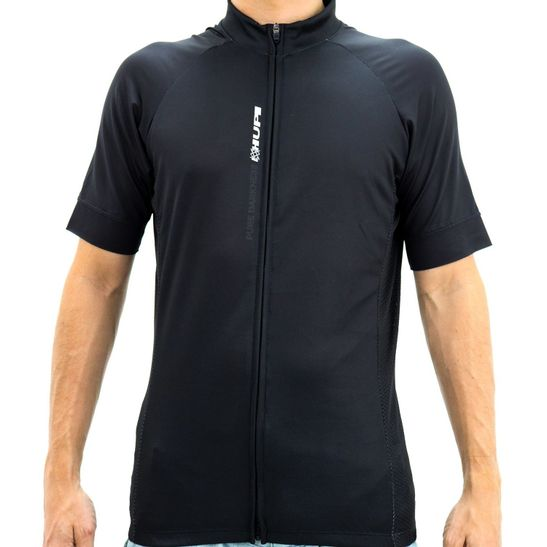 camisa-para-ciclismo-hupi-modelo-all-black-preto-com-3-bolsos-traseiro-com-protecao-uv-ziper-automatico--confortavel-de-qualidade