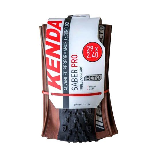 pneu-kenda-saber-pro-caffe-skin-coffee-com-borda-marrom-29x2.4-largo-resistente-rapido-para-terra-batida-com-120-tpi-tubeless-sct-borda-reforcada